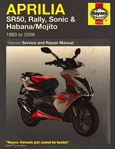 Aprilia SR50, Rally, Sonic & Habana/Mojito Scooters 1993 -