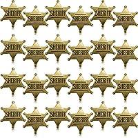 Willbond Metal Sheriff Badge Bronze Western Cowboy Badge Deputy Sheriff
