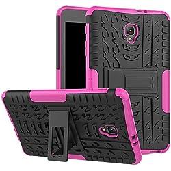 Cas de téléphone de Chengxin, Modèle Hyun Deux Couches Loanblend Loanblend Armor Kickstand 2 en 1 Housse Antichoc pour Samsung Galaxy Tab Une Tablette 8.0 SM-T385 / T380 (2017) (Couleur : Rose)
