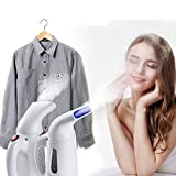 #3: RiWEXA Handheld Garment Steamer Iron Fast Heat-up Portable Family Fabric Steam Brush Handy Vapor Facial Steamer for Home and Travel (Colour May vary)