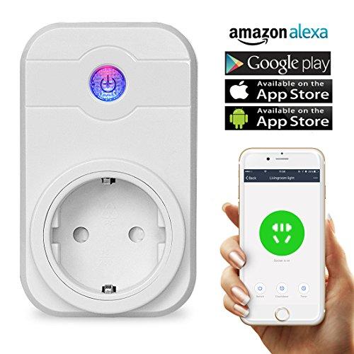 Wifi Steckdose,Smart intelligente WLAN Steckdose Fernbedienung steckdose kompatibel mit Amazon Alexa (Echo, Echo Dot) Google Home Wireless Smart Home Fernbedienung mit Timing Funktion (Home Hotspot)