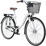 28 Zoll Viking Prelude Citybike Stadt Fahrrad Licht 3 Gang Nexus, Farbe:Weiss