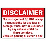 clickforsign Disclaimer - Parking Sign Board