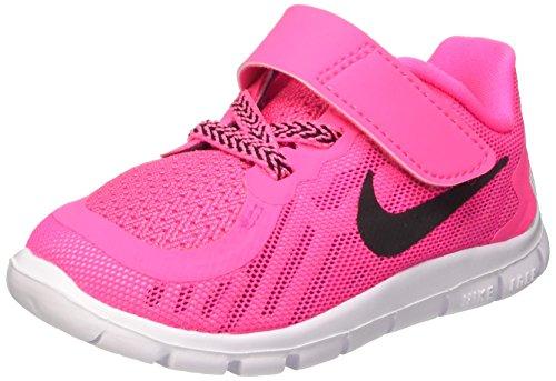 Nike Free 5 (Tdv) Scarpe Walking Baby, Bambina, Multicolore (Pink Pow/Black-Vivid Pink-Wht), 22 Multicolore (Pink Pow/Black-Vivid Pink-Wht)