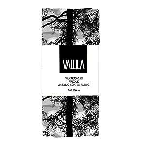 Vallila Interior 140 x 250 cm en coton avec revêtement en acrylique Kelohonka arbres Nappe Gris