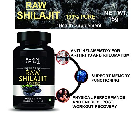 Vokin Biotech - Pure Himalayan Raw Ayurvedic Shilajit - 15g (Natural Source of Fulvic Acid and Trace Minerals)