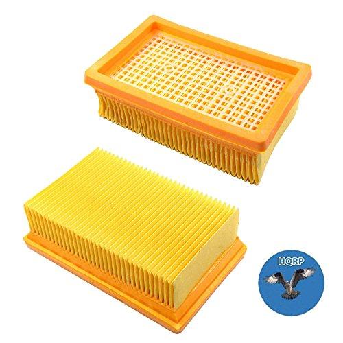 HQRP 2x Filtre plissé plat pour Kärcher WD6, WD6 P, WD 6 P...