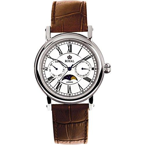 Royal London 40089-01 - Reloj para hombres, correa de cuero