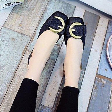 LvYuan suole leggeri sandali estivi similpelle casuale tacco piatto metallico punta escursioni Green