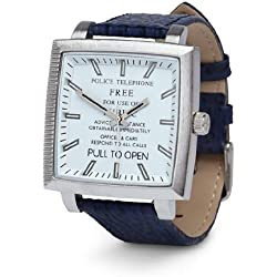 Dr Who Men's Quartz Analogue Display Watch with White Dial and Blue Plastic or PU Strap DR173