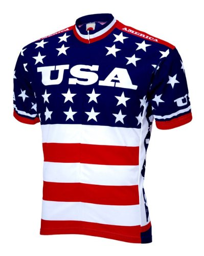 World Trikots 1979 Team USA Trikot Herren Short Sleeve, Herren, merhfarbig, Large -