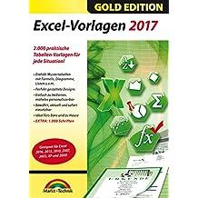 Excel 2017 Vorlagen - für alle Excel Versionen 2003 2007 2010 2013 2016 geeignet