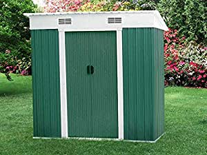 Viva Green - Abri de jardin métal Vegas - 2.38 m² - 1.94 x 1.21 x 1.81 m