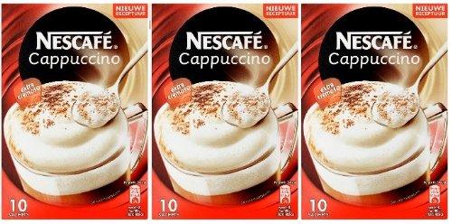 Nescafé Cappuccino Instant Kafee mit 3x10 Portionsbeutel