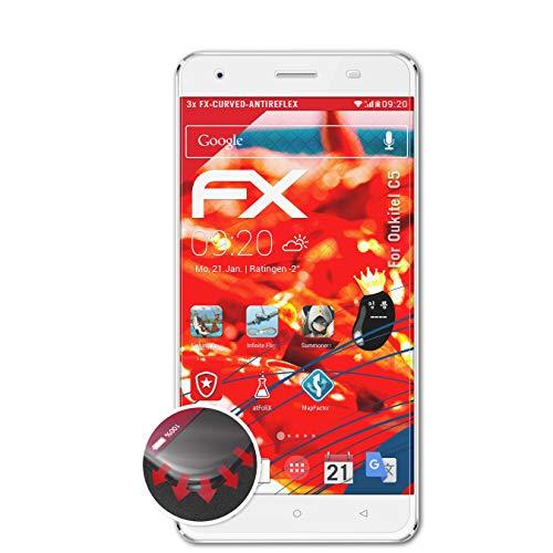 atFolix Schutzfolie passend für Oukitel C5 Folie, entspiegelnde & Flexible FX Bildschirmschutzfolie (3X)