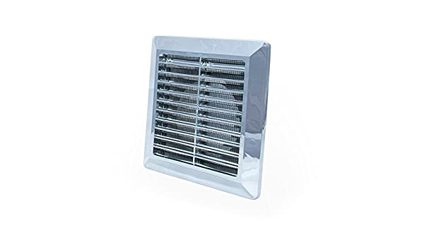 5 with Fly Screen and Round Duct Connection White Air Vent Grille ...