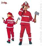 NEU Kinder-Kostüm Feuerwehr, rot, 2-tlg. Gr. 116