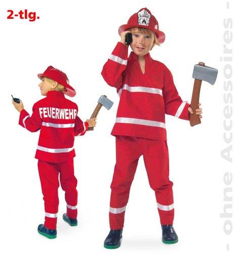 feuerwehrmann kostuem 116 NEU Kinder-Kostüm Feuerwehr, rot, 2-tlg. Gr. 116