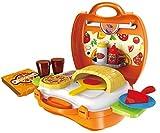 Spielzeug Pizzaofen Pizza Backofen Spielzeug Set to go im Koffer Spielzeugset