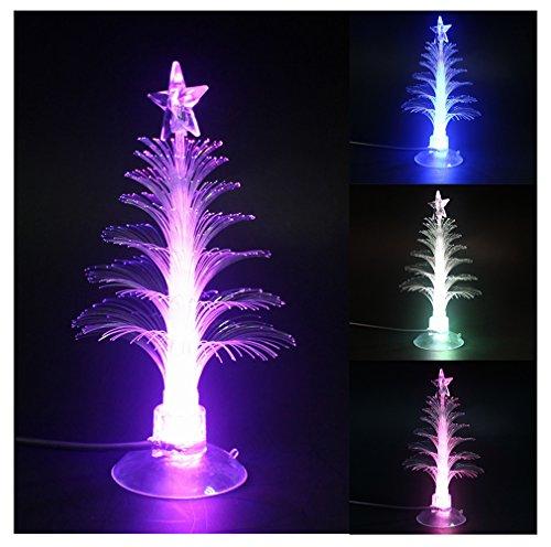 Stella Albero Di Natale Luminosa.Albero Di Natale In Fibra Ottica Luminosa Con Luci Led Ventosa E Punta A Stella