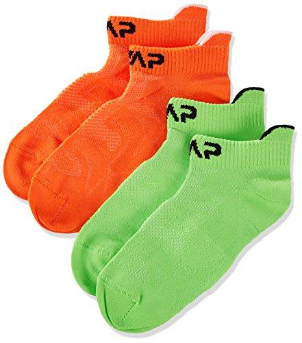 CMP Kinder Füßlinge Socken, Orange Fluo-Green Fluo, 28/30