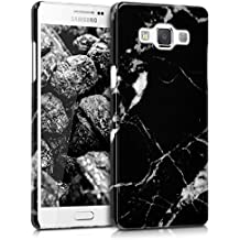 kwmobile Funda Hardcase Diseño mármol para Samsung Galaxy A5 (2015) en negro blanco