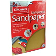60, 80, 100 &120 Grade Sandpaper. Kingfisher 24 Sheets Assorted Sandpaper and Inspirational Magnet by Kingfisher