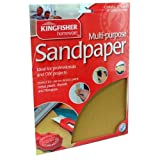 60, 80, 100 &120 Grade Sandpaper. Kingfisher 24 Sheets Assorted Sandpaper by Kingfisher