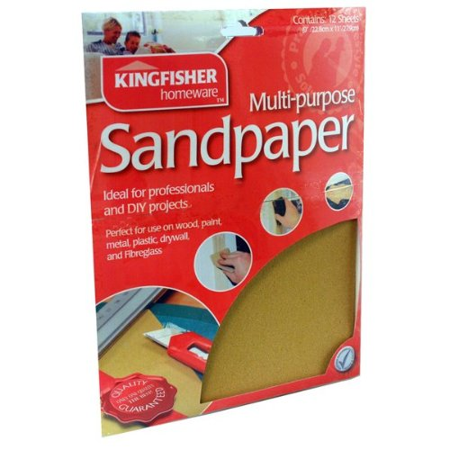 Preisvergleich Produktbild 60, 80, 100 &120 Grade Sandpaper. Kingfisher 24 Sheets Assorted Sandpaper and Inspirational Magnet by Kingfisher