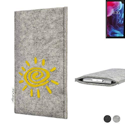 flat.design Handy Hülle für Archos Oxygen 63XL FARO mit Sonne Filz Schutz Tasche Etui Made in Germany fair