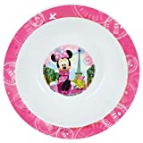 FUN HOUSE 005506 Disney Minnie Bol Micro-ondable pour Enfant, Polypropylène, Rose, 16 x 16 x 4 cm