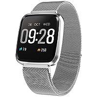 IrahdBowen Smart Watch Tensiómetro de HD de Pantalla en Color – Rastreador de Fitness con pulsómetro