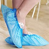 Oriley Disposable Shoe Cover 30 Micron Anti-slip Water Resistant Boot Protector for Hospital, Labs, Workplace, Indoor & Rain (50 Pcs)