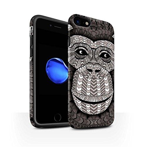 STUFF4 Matte Harten Stoßfest Hülle / Case für Apple iPhone 5/5S / Elefant-Grün Muster / Aztec Tier Muster Kollektion Affe-Mono