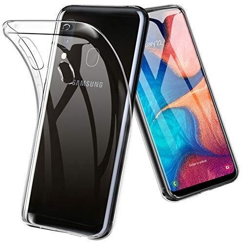 TOPACE Hülle für Samsung Galaxy A20E, Ultra Schlank Softschale Silikon TPU Stoßfest Handyhülle Schutzhülle Anti-Fingerabdruck Shock Absorption Cover für Samsung Galaxy A20E (Transparent) Schutzhülle Silikon Cover