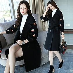 MO Stylish Long Coat Jacket Female Long Sleeve Temperament Elegant Sweet Bow Knot Clothing from MO