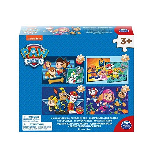 Spin Master Paw Patrol Wooden Puzzle Shoebox Puzzle - Rompecabezas (Puzzle Rompecabezas, Dibujos, Niños, 4 año(s), Interior, China)