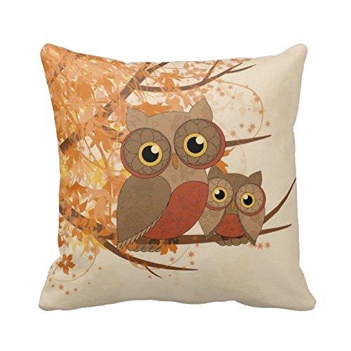 Hidoon búhos patrón funda de almohada manta de lino y algodón cuadrado decorativo funda para cojín funda de almohada para casa sofá 18x 45,72cm tamaño estándar
