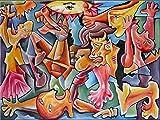"""Pintura Grande Lienzo al Óleo Arte Abstracto Moderno """"LA LUCHA"""" por DOBOS, Cuadro Original para..."""