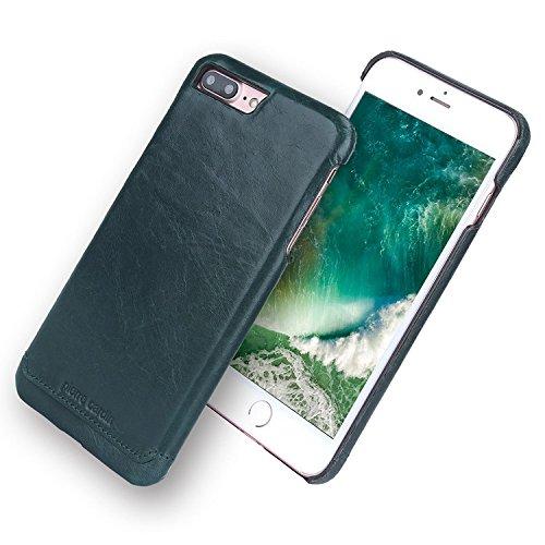 Coque iPhone 7 Plus, Pierre Cardin Hard Case Cover Retour haut de gamme de luxe en cuir véritable Slim pour Apple iPhone 7 Plus 5,5 Pouce - Brun Clair Brun Foncé