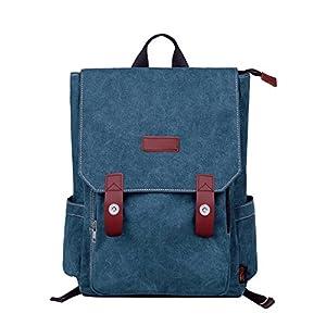 51MpVk%2B25aL. SS300  - Douguyan Lona Moda Camping Mochila Bolsa para Mujer Hombre Mochilas de Escuela Viaje 120