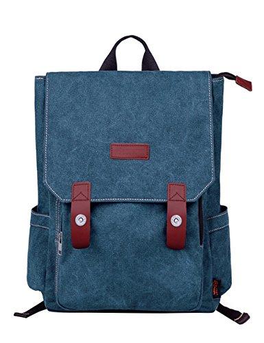Imagen de douguyan lona  bolsa para mujer  hombre macbook computadora de escuela viaje 120 azul