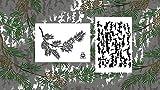 Acid Tactical® 2pezzi–23cm x 35cm camouflage aerografo vernice spray camo stencil–Jon Boat modello albero corteccia/pino