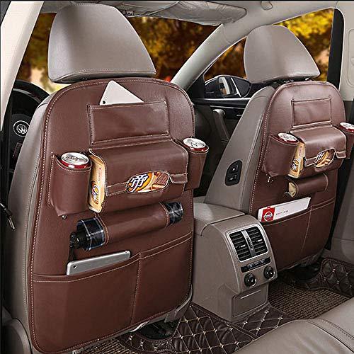LINGYAO Multifunktionale Leder Autositz Aufbewahrungstasche Umweltfreundlich Kann weich und geruchlos Auto Aufbewahrungstasche aufgehängt Werden -
