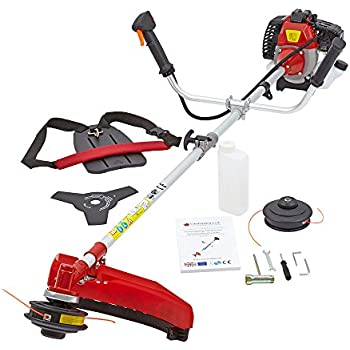 Trueshopping® 43cc Petrol Grass Garden Trimmer Brush Cutter Powerful Heavy Duty Model Easy To Operate 2-Stroke 1.25KW 1.7HP Features Ergonomic Harness