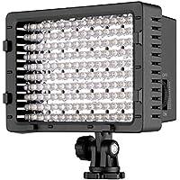 Neewer 216 LED Luz de Vídeo Regulable con 2 Filtros Blancos y Naranja para Canon, Nikon, Pentax, Panasonic, Sony, Samsung y Cámaras Olympus DSLR Videocámaras