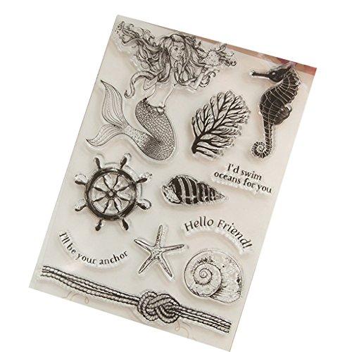 Wanfor Mermaid Transparent Klar Silikon Stempel Für DIY Scrapbooking Fotoalbum Dekor