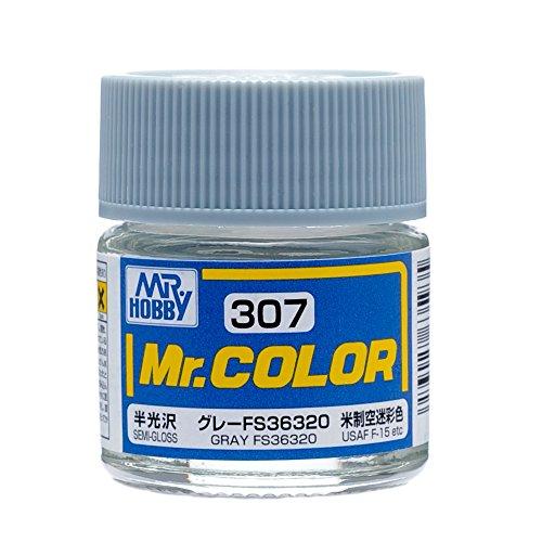 Gloss Semi Gloss Paint (Mr. Color 307 Gray FS36320 (Semi-Gloss/Aircraft) Paint 10ml. Bottle Hobby by Mr. Hobby)