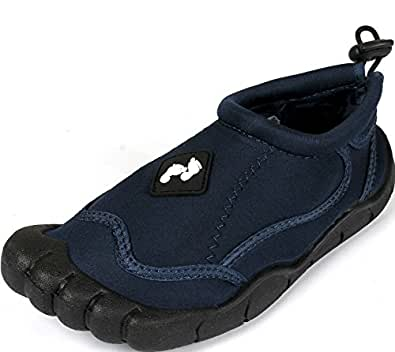 FEET Beach Wetshoes kids and adults Sizes Junior 5 to Adult 7 UK (1, BLUE)