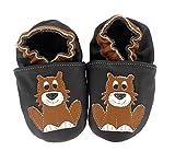 HOBEA-Germany Krabbelschuhe in verschiedenen Farben und Designs mit Tieren , Schuhgröße:18/19 (6-12 Monate);Modell Schuhe:Löwe Leo